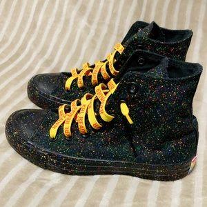 Shoes - 💙💚 PRIDE Hightop VANS ( Statement Shoes ) 💛💜❤️